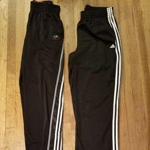 2 pairs of Adidas athletics pants ..